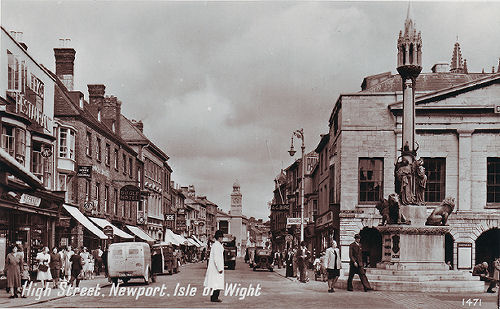 newport, isle of wight, high street 1950