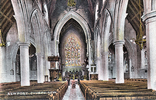 Interior of St Thomas CE Church, Newport